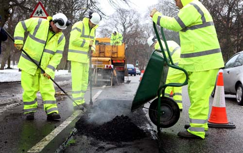2011/12 was the most costly year for road repairs which amounted to more than £224 million