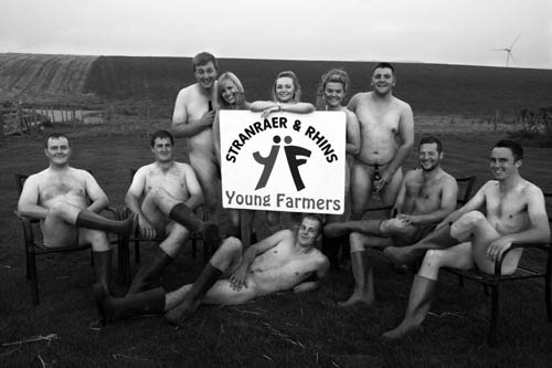 David, back right, and his fellow farmers are raising cash for charity