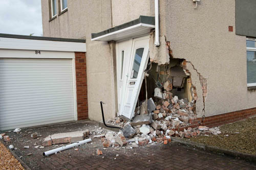 Mr Rae was enjoying a cup of tea when his neighbour of 40 years crashed into the house