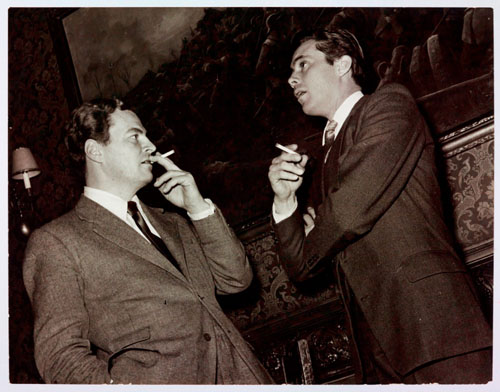 Leigh Fermor with actor Dirk Bogarde