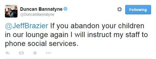 Bannatyne appeared to lose his temper