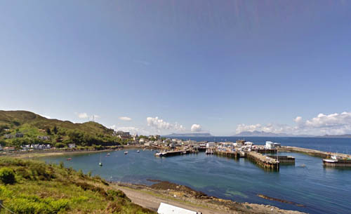 Mallaig is about 18 miles east of the breeding grounds on Rum