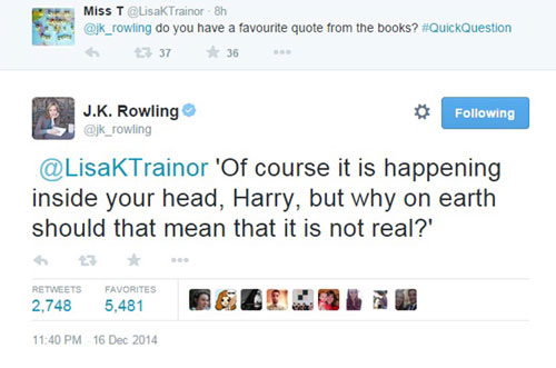 JK Rowling revealed her favourite quote was from the last book in the series