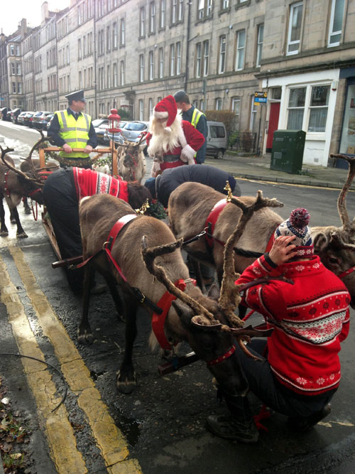 Santa was caught out by traffic wardens in Edinburgh this weekend