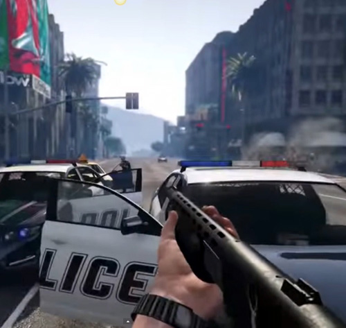PS4 and Xbox One players get FPS visuals, 60 frames a second and high-res graphics - making the violence more horrific than ever