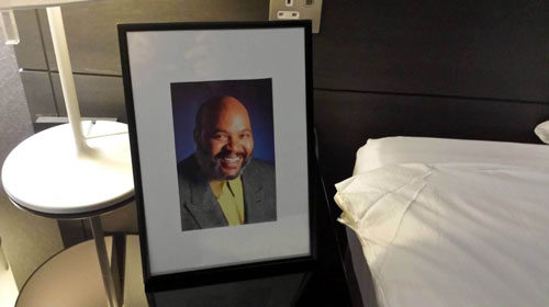 Uncle Phil from the Fresh Prince watching over Adam Cleland's room at the Radisson
