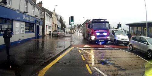 The incident was filmed using a dashcam
