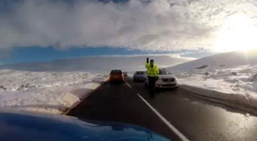 Police had to direct traffic to avoid a collision
