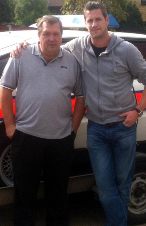 Larry Collins, left, from Essex, who owned the car for 11 years, together with Ant Anstead from the firm which rennovated the vehicle