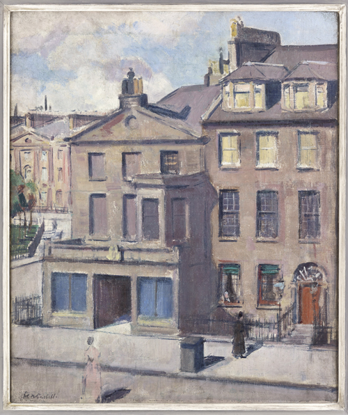 Cadell's newly discovered painting 'George Square and Charlotte Square from my Studio' 1909 oil on canvas