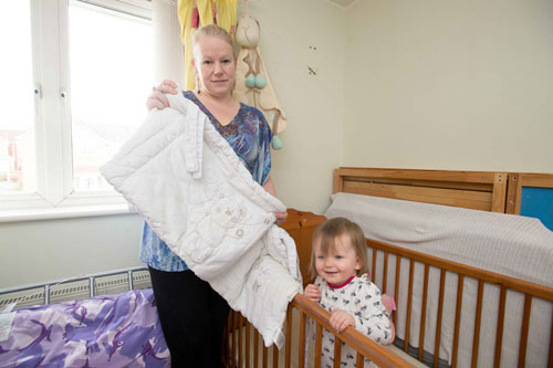 Debbie is encouraging other mums to remove their cot bumpers