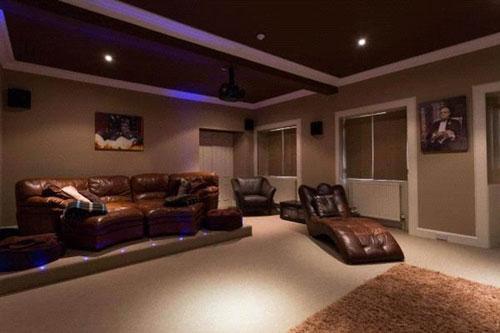 The house boasts a cinema room