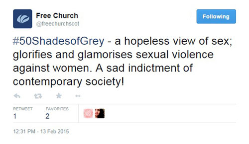 The Free Church of Scotland urged viewers to stay away from the film