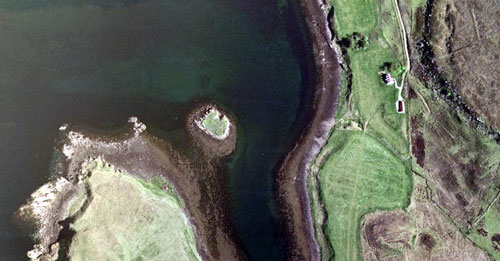The tiny island is half the size of a football pitch