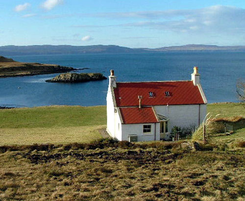The island is close to the north-west tip of Skye