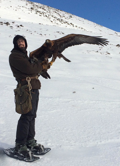 Owner Barry after recovering his eagle