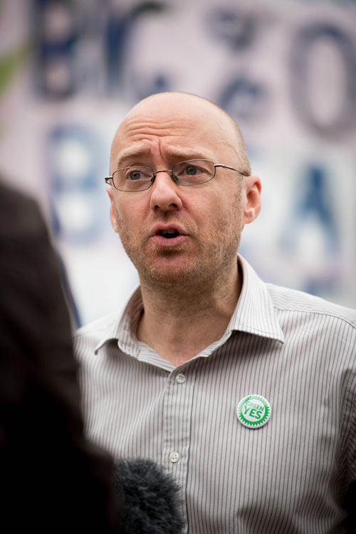 "MSP Patrick Harvie said that inequality is doing ""so much damage"" to Scotland"
