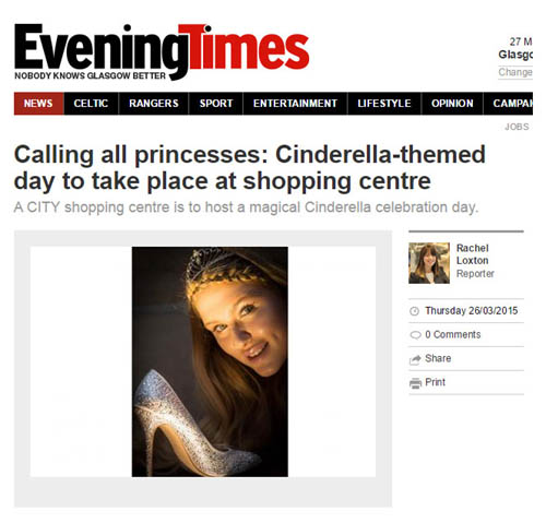 Pictures also made an appearance in The Evening Times