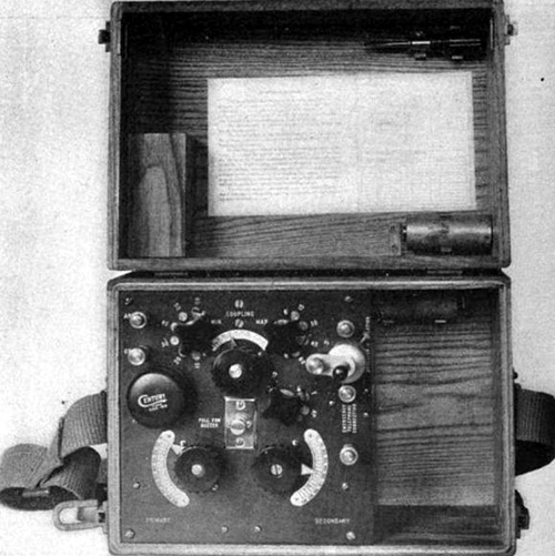 Radio set such as these were used to transmit English orders translated into gaelic