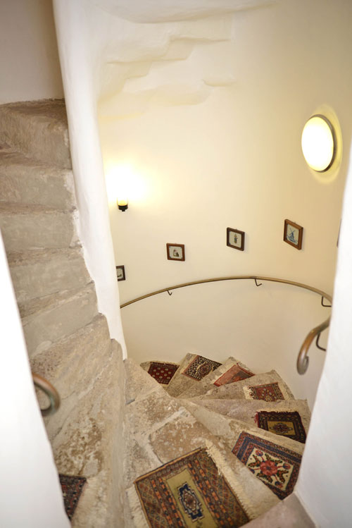 The staircase after being completely restored
