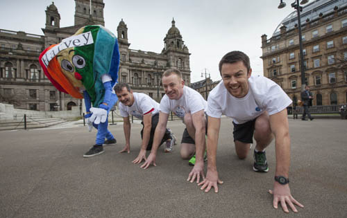 The team will run from Glasgow to London in five days