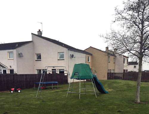 The family say they don't have room in their own garden for the play equipment
