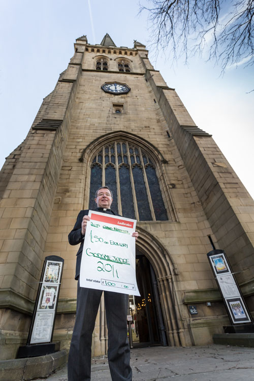 The Cathedral Dean has placed the charity bet in aid of the restoration project