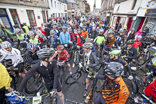 Cyclists at the start of last year's race. Credit: Ian Linton Photography