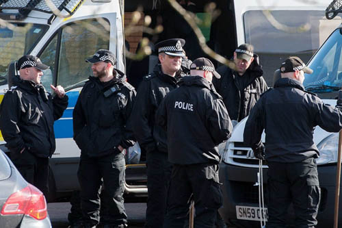 The police search for Karen Buckley, who was found dead earlier this year