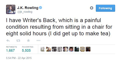 Hundreds of followers replied to Rowling's plea for help