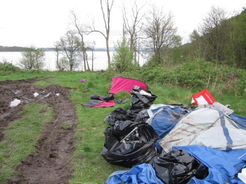Further damage has been caused by litter