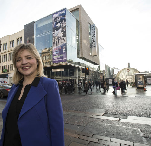 Anne Ledgerwood stood outside the St Enoch Centre