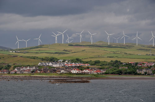 Turbines at Ardrossan in North Ayrshire