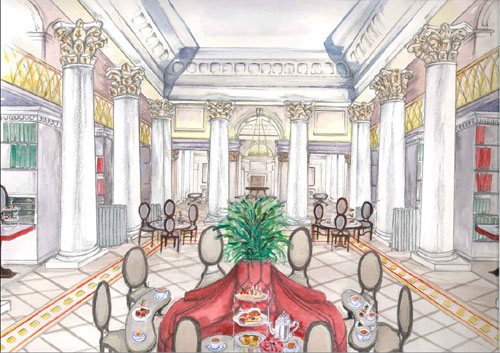 An artists impression of the Colannades interior