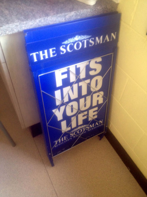 The freshers have also acquired a newspaper stand