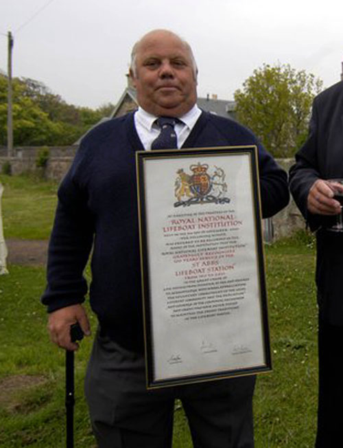 Angus Skene pictured at the station's 100th anniversary