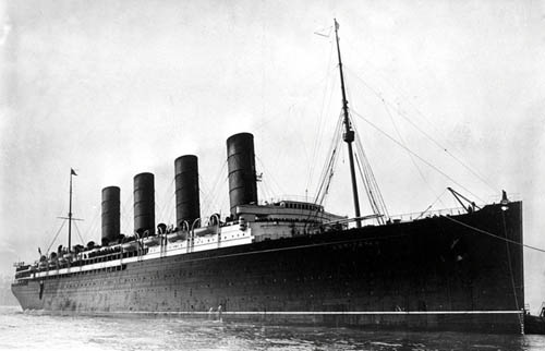 It was hoped the Lusitania's speed would help her evade German U-boats