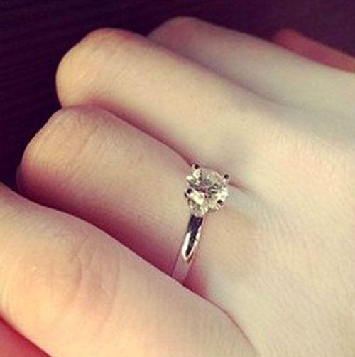 The surprise ring was almost revealed by airport security