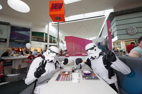The Stormtroopers managed to find time for some sushi