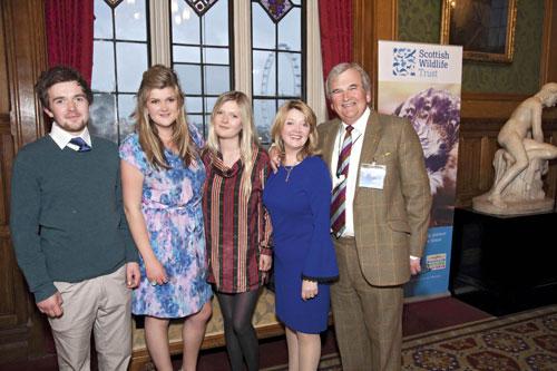 Francis Clark (jnr), Hannah Heerema, Sophie Kennedy Clark (an actress), Fiona Kennedy (Scottish singer and presenter), Francis Clark (businessman).-Business News Scotland