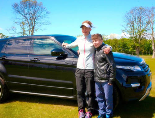 The dream shot meant she could trade in her five-year-old supermini for a Range Rover