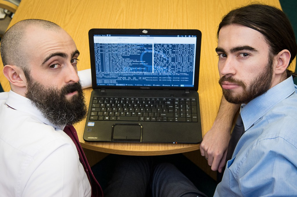 Ethical Hackers, Greg Hyslop and Pablo Crossa of SBRC