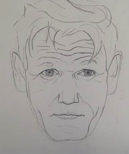 "Gordon Ramsay said his portrait was ""brilliant"""