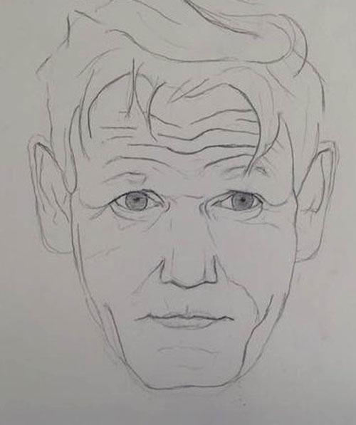 "Gordon Ramsay said his portrait was ""brilliant"""