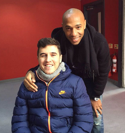 "He also had a hug from his ""hero"" Thierry Henry"
