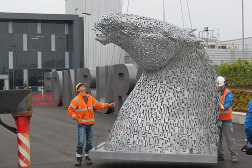 They are identical to their enormous counterparts, located in Falkirk