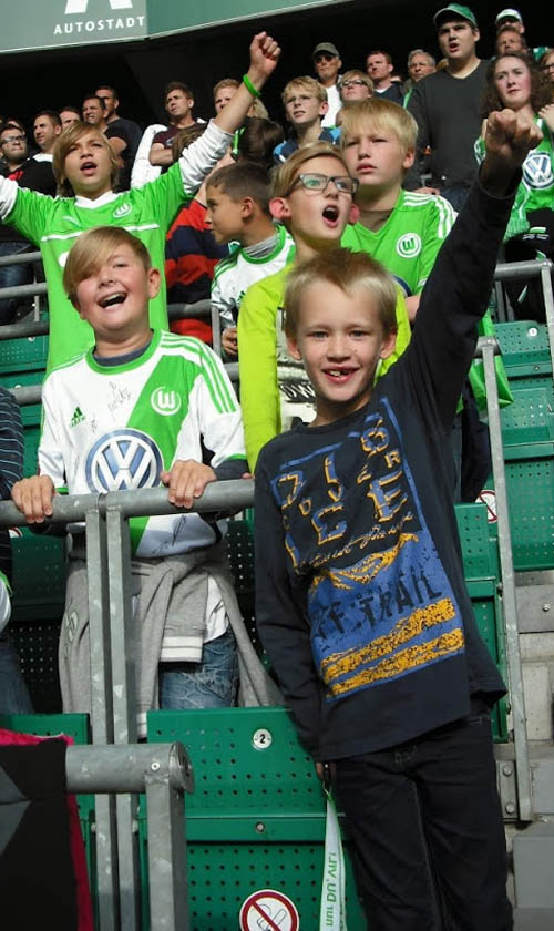 Kids safe standing area at VfL Wolfsburg 800A