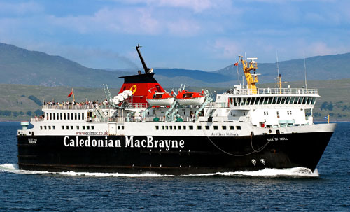 The man became ill whilst waiting to board the Calmac ferry in Oban