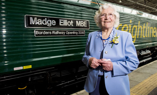 Madge was honoured at Edinburgh Waverley station