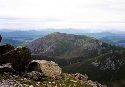 They ended up almost at the summit of Bheinn a'Ghlo
